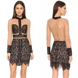 For Love and Lemons Black Vivian Mini Dress
